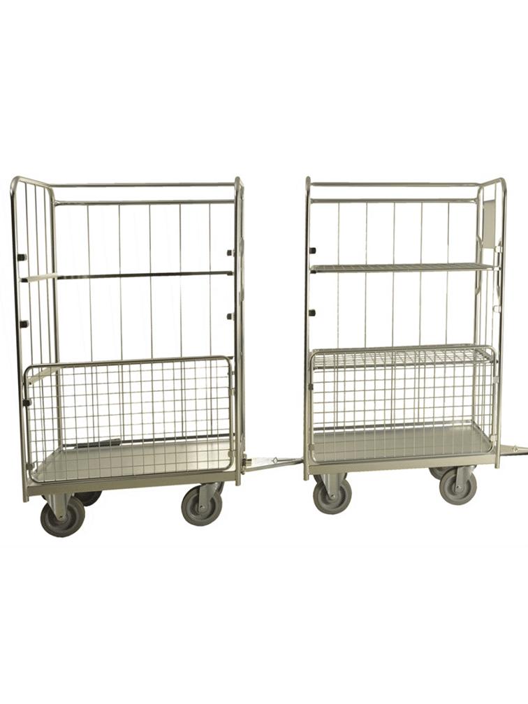 Chariots de collecte tractable
