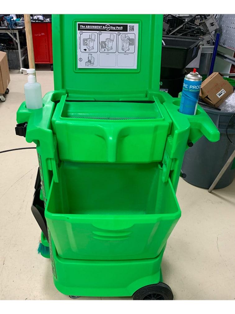 Distributeur recycleur d'absorbant